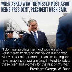 He was a real president and a true American! i miss having a commander-in-chief and first lady that actually love this country!