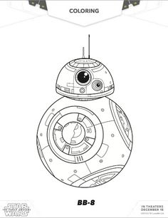 Free Star Wars BB8 Coloring pages; The Force Awakens BB8 Free coloring sheets via MommyMafia.com