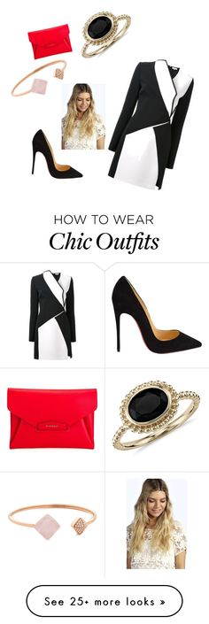 """chic look (tekstil)"" by serimode on Polyvore featuring Thierry Mugler, Christian Louboutin, Givenchy, Blue Nile, Michael Kors and Boohoo"