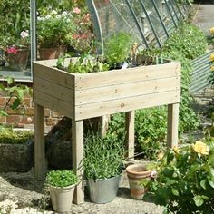 Raised Planter These raised planters will provide you with an instant garden to grow your plants or vegetables. Great if you don't have much room as they can be used in a courtyard, patio or balcony. •Made of stained pine from a sustainable source•H90 x W90 x D60cmThis item is subject to a higher postagerate of £12.95 to UK mainland,