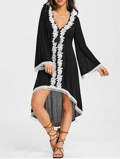 GET $50 NOW   Join RoseGal: Get YOUR $50 NOW!https://www.rosegal.com/casual-dresses/flare-sleeve-applique-high-low-boho-dress-1990693.html?seid=4514413rg1990693