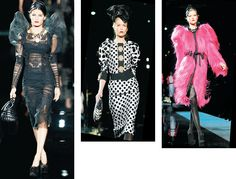 Dolce & Gabbana: Estampas gráficas, volumes e transparências marcaram a coleção criada pela dupla italiana para homenagear a estilista Elsa Schiaparelli e pintores surrealistas. Coleção para outono/inverno 2009.