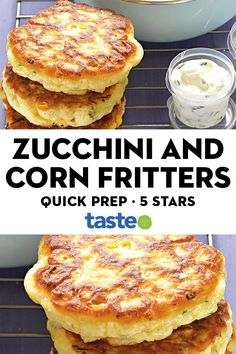 Make extra sweetcorn and zucchini fritters for dinner and pack the rest for lunch. Make extra sweetcorn and zucchini fritters for dinner and pack the rest for lunch. Light Recipes, Vegetable Recipes, Vegetarian Recipes, Healthy Recipes, Vegetarian Cooking, Vegetarian Appetizers, Vegan Food, Healthy Snacks, Recipes