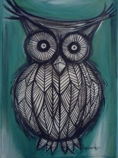 Pretty owl art