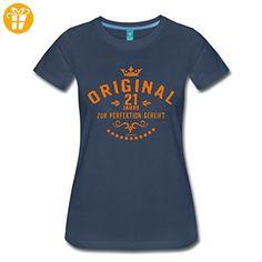 Geburtstag 21 Perfektion RAHMENLOS® Frauen Premium T-Shirt von Spreadshirt®, XXL, Navy - Shirts zum geburtstag (*Partner-Link)