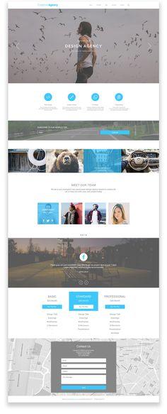 Creative Agency #agency #free  #freebie  #onepage #photoshop #psd #team #ui #web #webdesign #website  #wireframe
