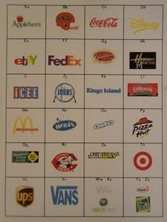 environmental print ABC chart