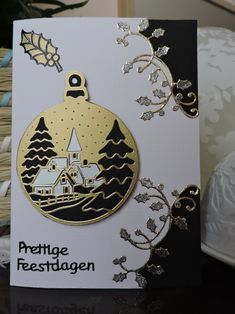 Cricut Christmas Cards, Xmas Cards, Christmas Baubles, Christmas Crafts, Spellbinders Cards, 3d Cards, Hand Embroidery Patterns, Winter Cards, Origami