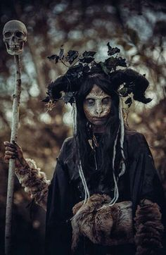 one of the fae on the wild hunt - Dark Forest by Elena-NeriumOleander on Deviant Art. Shaman:  #Shaman.