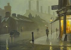 Artwork by Steven Scholes, The London Underground Power Station Lots Road Chelsea, Made of oil on canvas