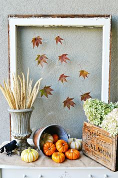 Decorate Outside for Fall : HGTV Gardens Love the falling leaves on the window