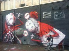 Graffiti de Overkant - Amsterdam Noord - Stork terrein de overkant - gratis parkeren