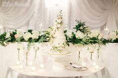 To bring to life Toronto couple Jen and Shana's vision of an ultra-glamorous garden-inspired wedding, Fab Fete combined luscious greenery, opulent golds. Greenery, Wedding Styles, Real Weddings, Amanda, Wedding Cakes, Wedding Inspiration, Glamour, Table Decorations, Garden