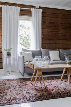Nordic Home, Cottage Interiors, Living Room Inspiration, Wood Paneling, Home Fashion, Old Houses, Architecture Design, Sweet Home, House Styles