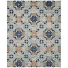 Safavieh Blossom Blue/Multi 8 ft. x 10 ft. Area Rug BLM403B-8 at The Home Depot - Mobile