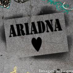 Nombre Ariadna / Name Ariadna / Ariadna / nombre / name / stencil
