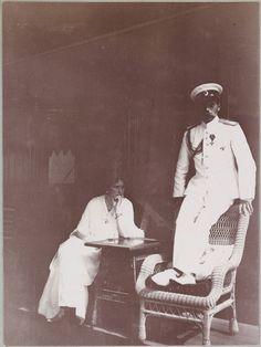 Alexandra Feodorovna and Nicholas II, aboard the Standart.