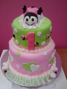 1 Year old Birthday Cake from Cupcake Girlz   #birthdaycakes 1 Year Old Birthday Cake, Birthday Cakes, Paleo Recipes, Paleo Food, Bug Cake, Specialty Cakes, Good Food, Fun Food, Amazing Cakes
