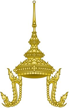 Thailand Great Crown of Victory (heraldry) Mughal Architecture, Art And Architecture, Foam Carving, Flower Art Images, Crown Drawing, Thai Pattern, Thailand Adventure, Paisley Art, Baroque Pattern