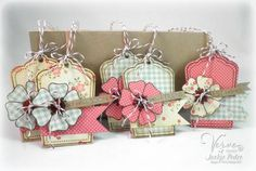 Verve stamps SweetScallop and Great Friend Tags by Jackie Pedro