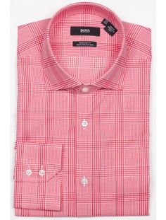 9a496d32b69c Hugo Boss - Gerald Men s dress shirt from the BOSS Black collection. Red  tonal multi