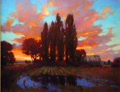 Dusk on the Fields by Teresa Saia Pastel ~ 24 x 30 Pastel Landscape, Landscape Artwork, Abstract Landscape, Pastel Drawing, Pastel Art, Paintings I Love, Beautiful Paintings, Pastel Paintings, Wow Art