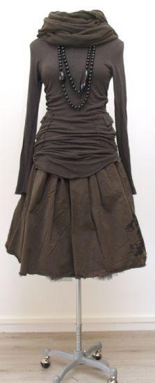 rundholz - Shirt Double mit Taschen Wolljersey filz - Winter 2015 - stilecht - mode für frauen mit format...