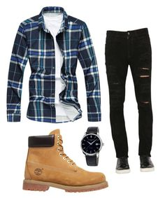 """Untitled #5"" by nnguyen0907 on Polyvore featuring Giorgio Brato, Timberland, Frédérique Constant, men's fashion and menswear"