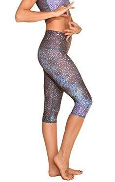 cfec6deeb2 Teeki Mermaid Fairyqueen Yoga Capri Leggings (Medium) Workout Capris, Yoga  Capris, Yoga