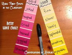 Overused Words and Paint Strips!