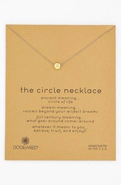 The circle meaning jewels stones pinterest nordstrom jewel dogeared reminder the circle pendant necklace no aloadofball Images