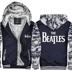 Men Winter Jackets And Coats The Beatles Hoodies Coat Game Hooded Thick Zipper Thick Warm The Beatles Sweatshirts