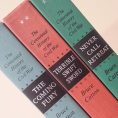 Centennial History of the Civil War ~ 3 Book Trilogy Set by Bruce Catton ~ The Coming Fury ~ Terrible Swift Sword ~ Never Call Retreat by FeeneyFinds on Etsy