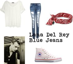Lana Del Rey - Blue Jeans, created by ugenifa on Polyvore