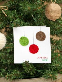 Belle carte joyeux noël festive diy idée