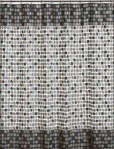 Amazon.com   InterDesign Moxi Fabric Shower Curtain, Yellow And Gray,  72 Inch By 72 Inch | Bathrooms | Pinterest | Window Curtains, White Shower  And ...