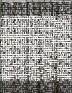 Amazon.com - InterDesign Moxi Fabric Shower Curtain, Yellow and ...