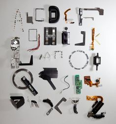 Clever Typeface Created from Pieces of a Deconstructed Camera