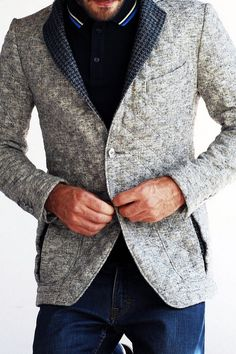 Quilted tailored jacket with houndstooth detail