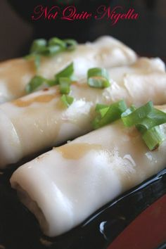 Rice noodle rolls - could be complicated but worth a try - UPDATE I tried and it was fabulous! Total success!