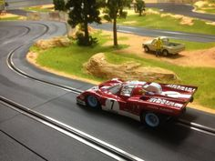 MOLETTARING SLOT TRACK 1/24 BRM Slot Car - Ferrari 512 - Limited Edition - 'Camel Filters' - No.7 - 1971 LeMans 24 HourFERRARI 512M SUNOCO / BRM MODEL CARS Team Penske at Le Mans