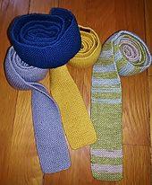 Ravelry: Men's Skinny Neckties-3 variations pattern by MaDonna Marie