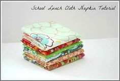 Make Cloth Napkins for Your Child's School Lunches~ Buggy and Buddy