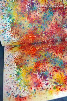 Watercolor Crayon Shavings