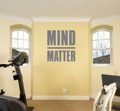 Mind Over Matter Motivational Decal for Gym and by ZestyGraphics, $28.00
