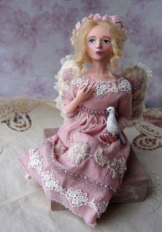 OOAK art doll  Handmade interior doll Angel by BalyginaArtDolls
