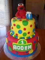 2nd Birthday Elmo Cake Conner S Birthday Party Ideas Pinterest