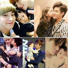 (some) EXO with babies