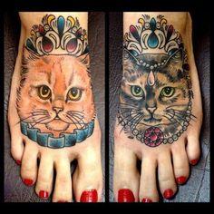 Fancy Cats on feet