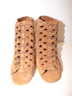 0fb7a0bb32e019 Low boots cuir camel et bout ouvert Michael Kors neuves neuf #cuirtress  Chaussure Michael Kors
